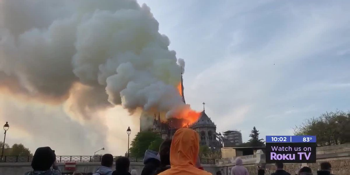 Lawton couple vsiting Paris reacts to Notre Dame fire they witnessed first hand