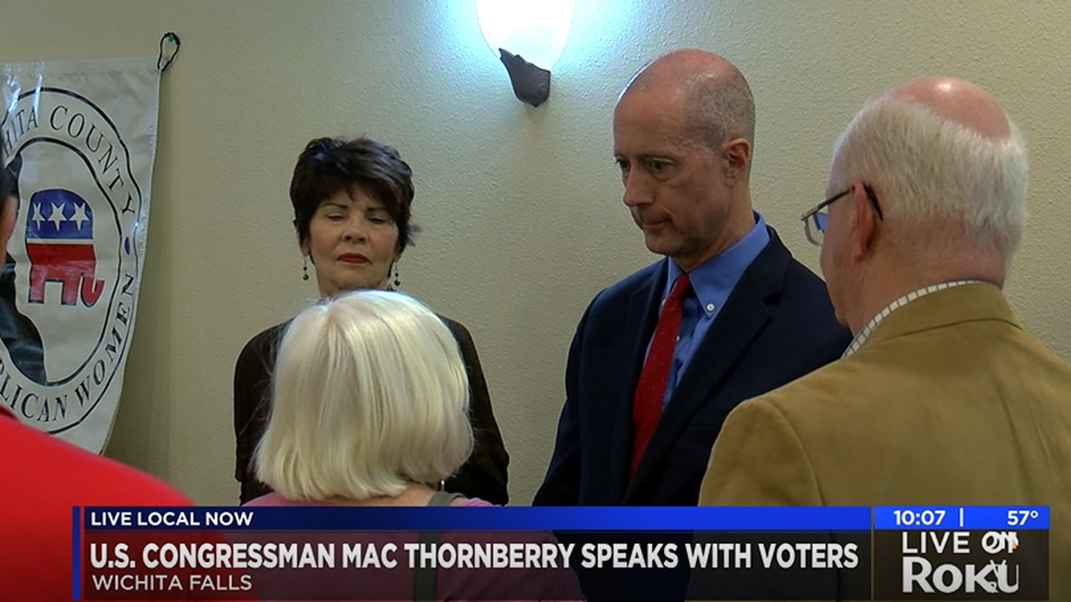 U.S. Rep. Mac Thornberry visits Wichita Falls
