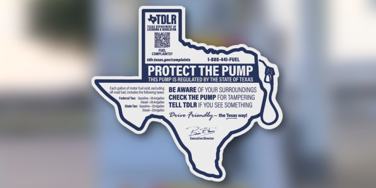 New gas pumps stickers help to report skimmers, other issues