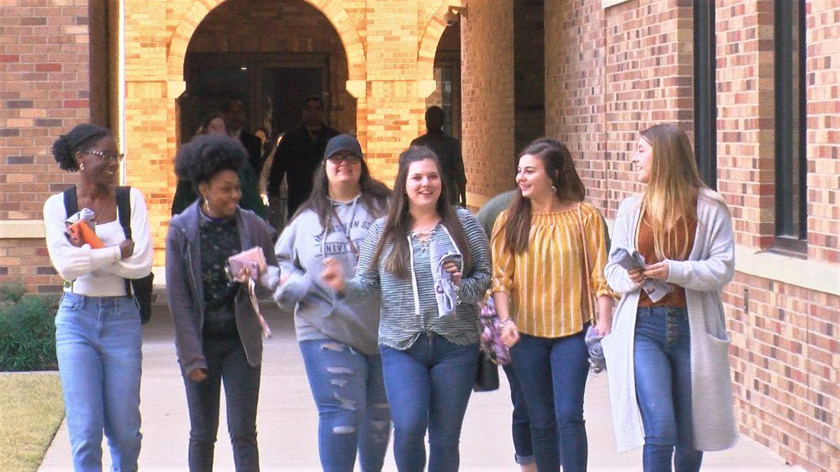 MSU Texas graduating seniors walk campus