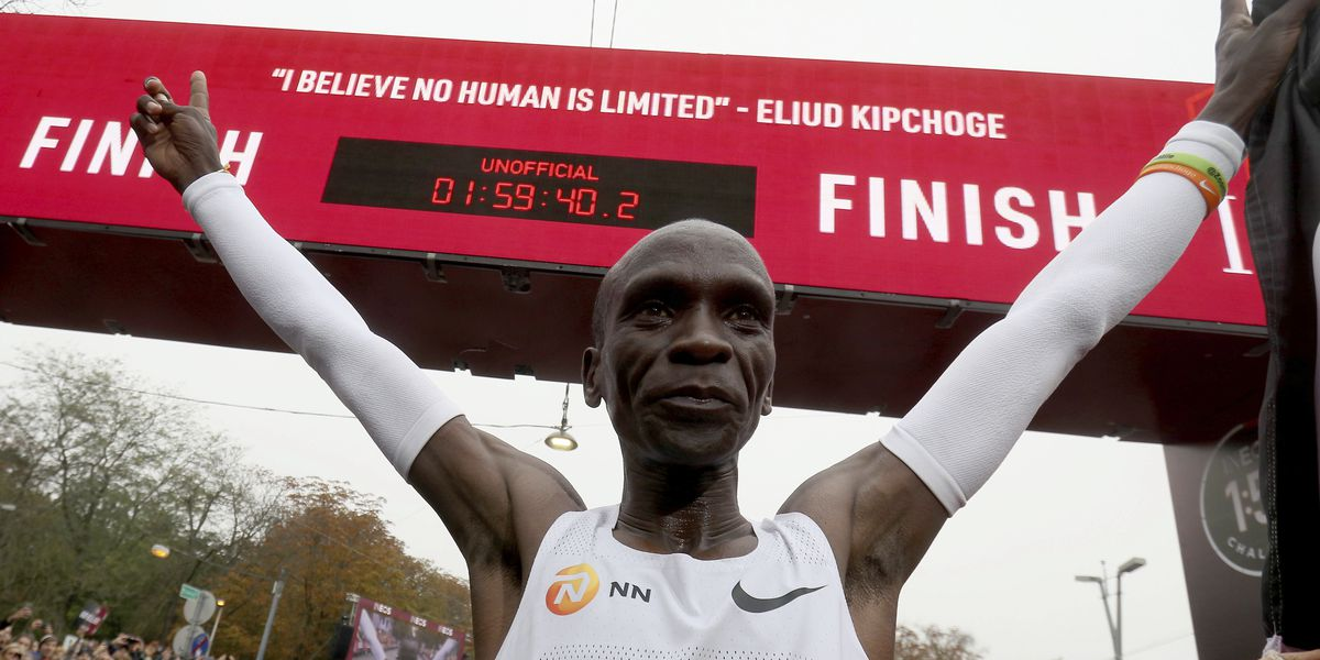 Kenya's Kipchoge becomes first runner to finish marathon under 2 hours, won't count as record