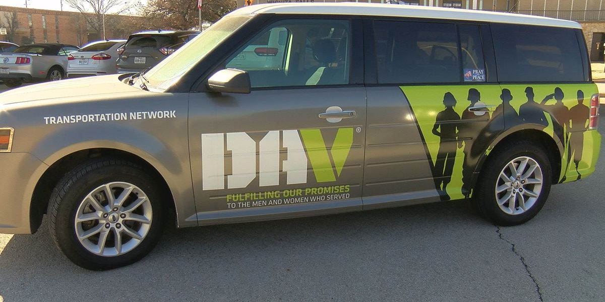 A transportation van for veterans is not in use during the pandemic