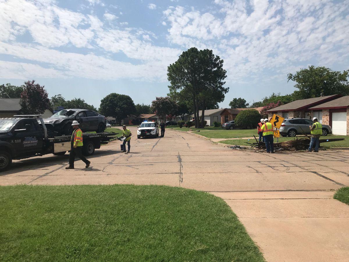 Single-car crash sends one person to hospital