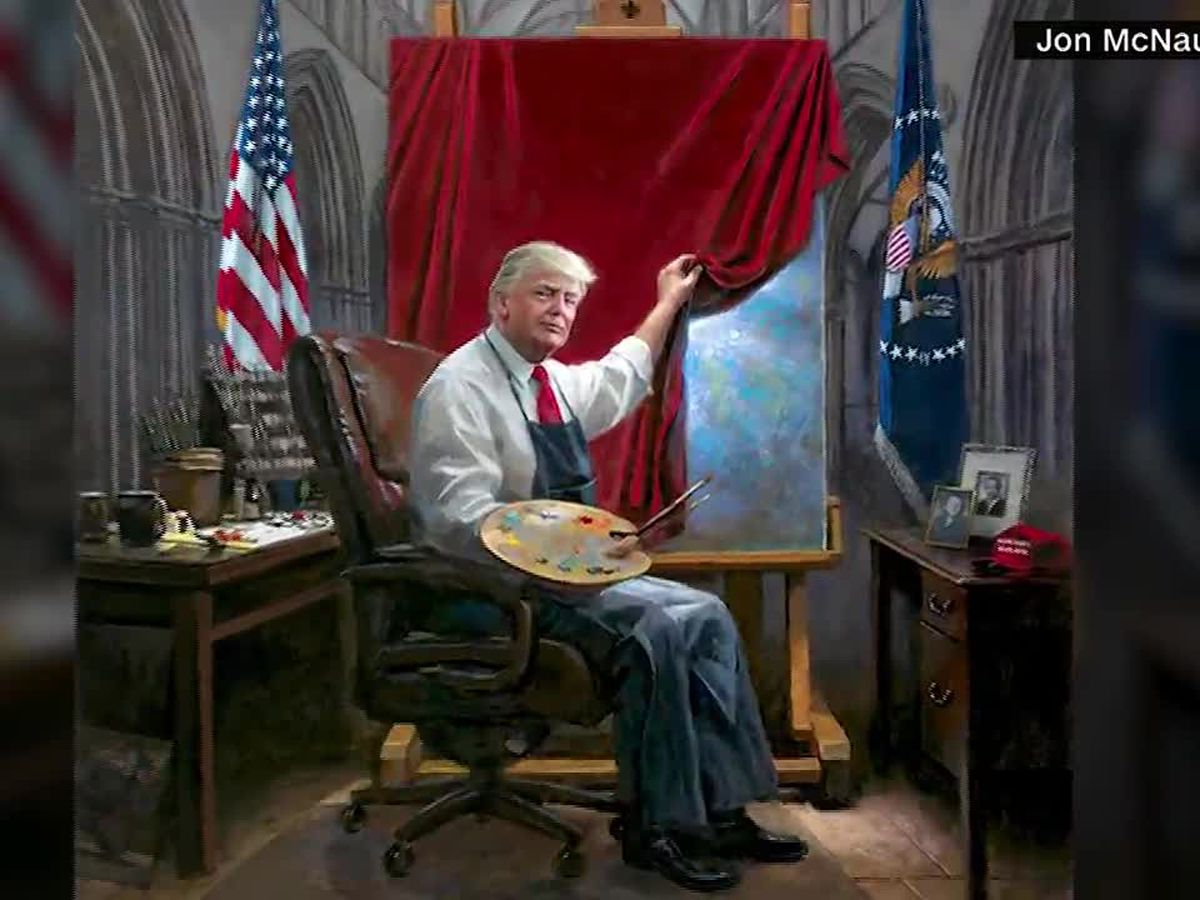 """Trump """"Masterpiece"""" gets retouched by critics. They're doing their own masterpieces."""
