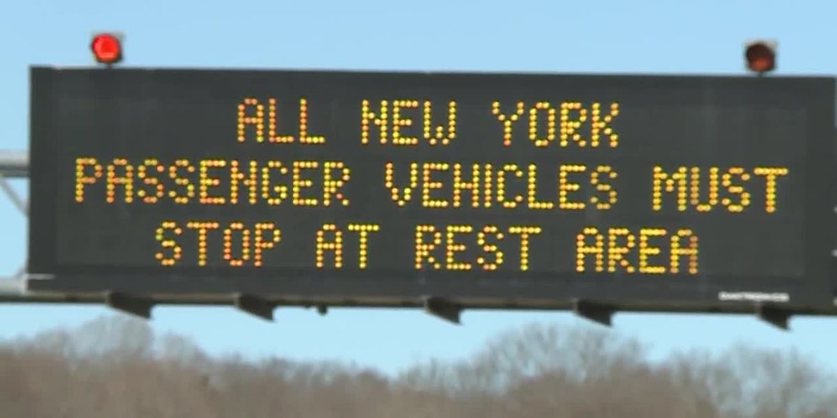 Checkpoints flag travelers from New York