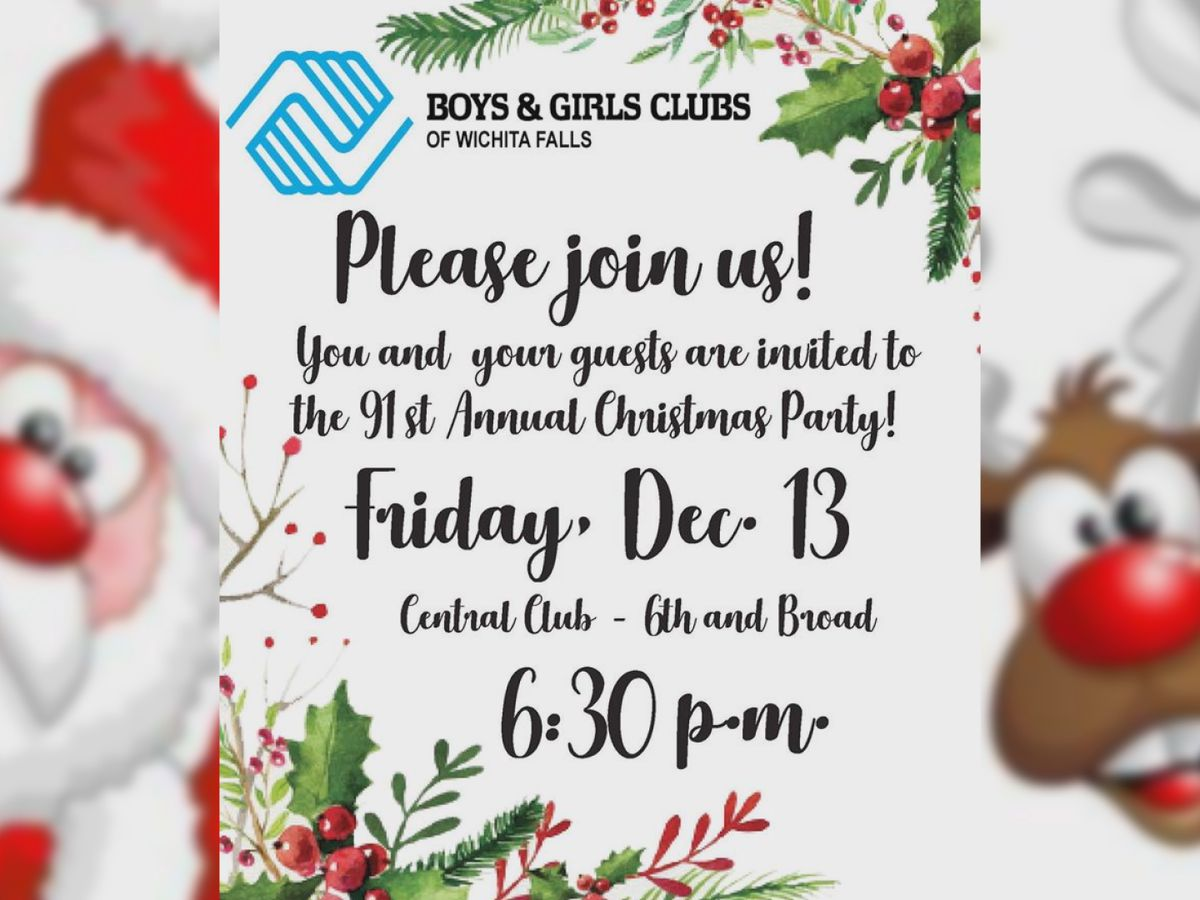 Boys & Girls Club of WF: get ready for the 91st Annual Christmas Party