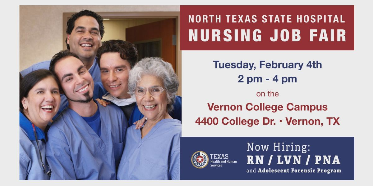 Vernon Campus of N. Texas State Hospital hosting hiring event
