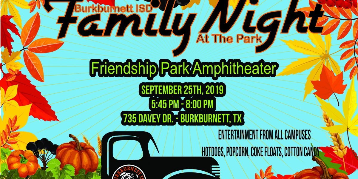Family Night at the Park happening now