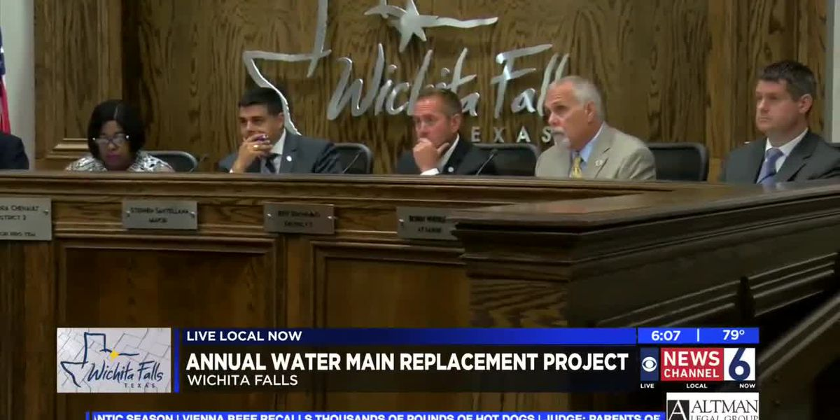 City of WF moves forward with annual water main replacement project