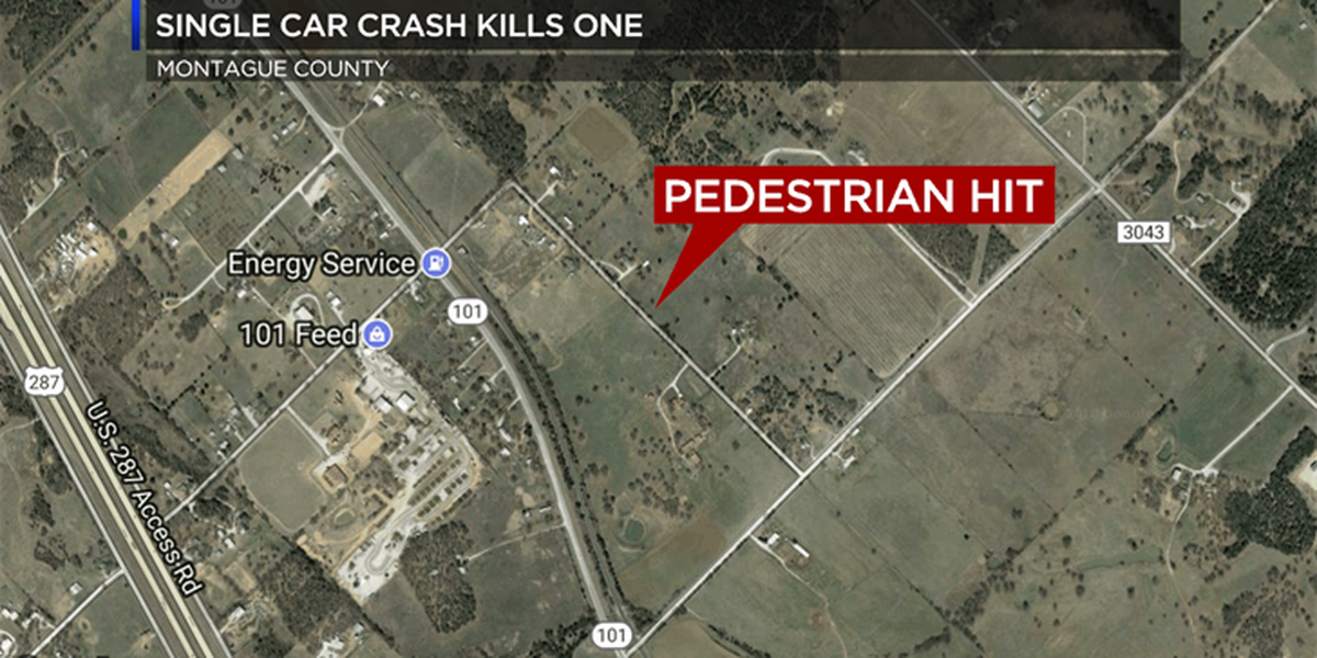 Man killed in single-vehicle crash in Montague County