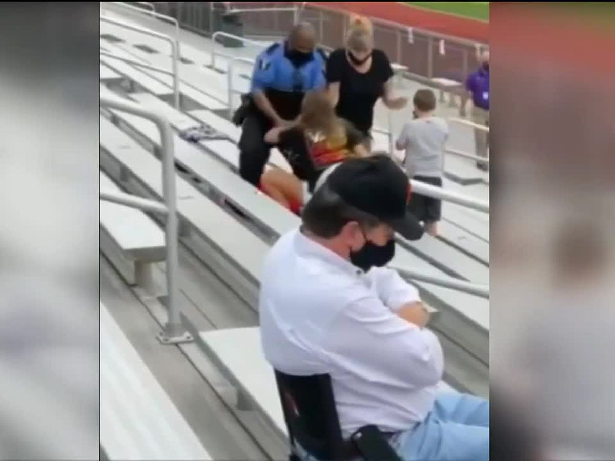Police tase woman at football game in Logan, Ohio