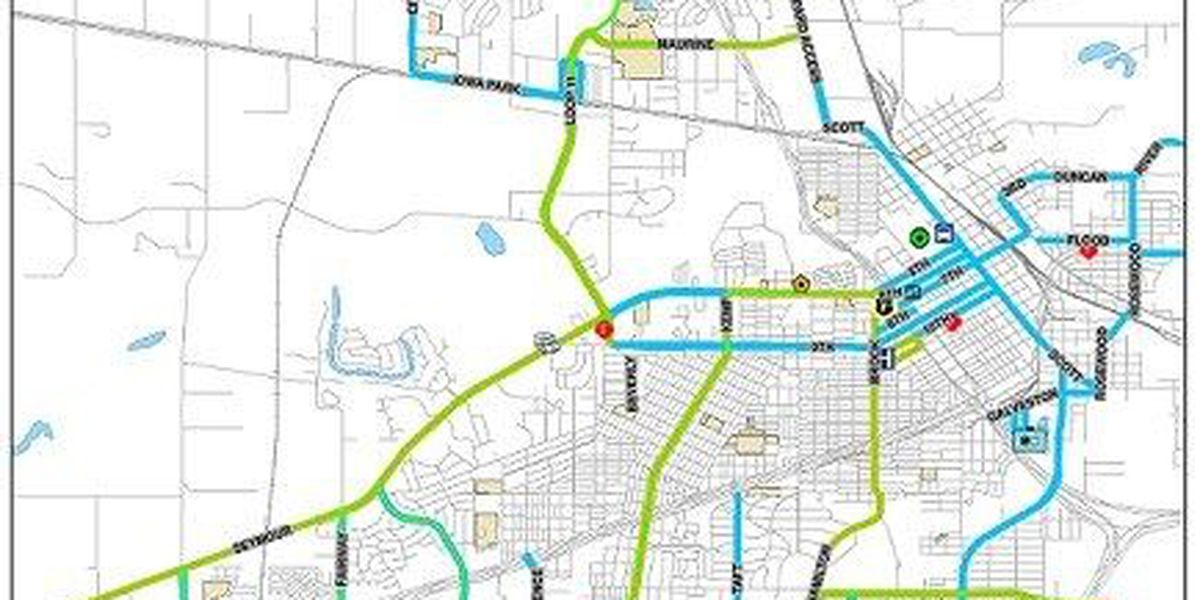 Map of Streets Plowed in Wichita Falls