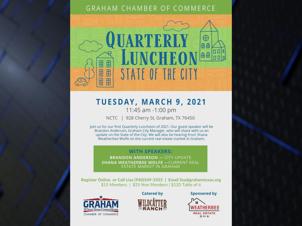 Graham Chamber of Commerce hosting quarterly luncheon on Tuesday