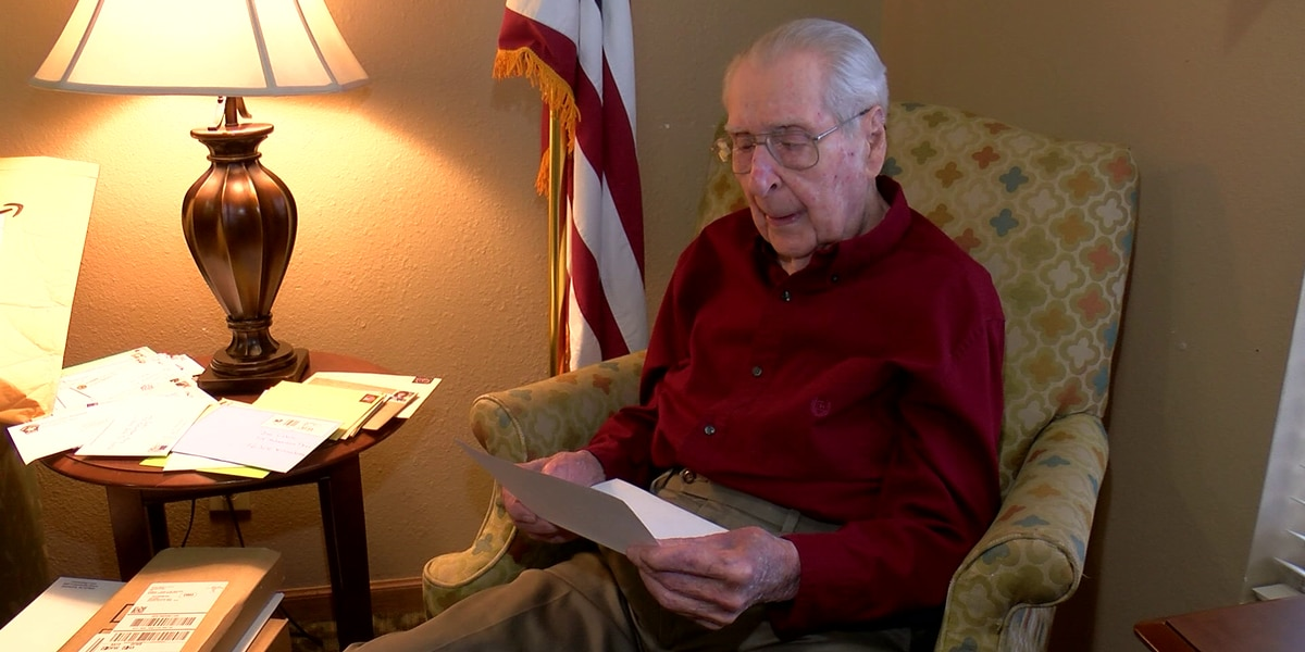 WWII veteran receives 100 plus birthday cards following viral post