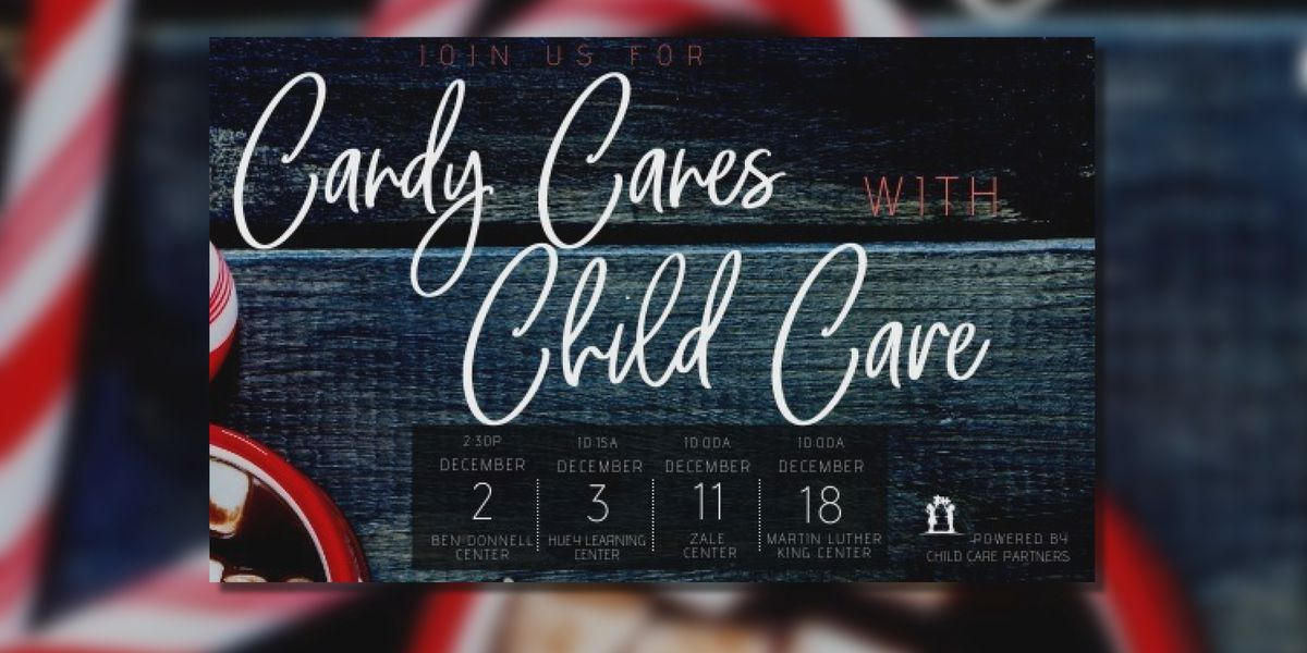 Candy Canes with Child Care Partners