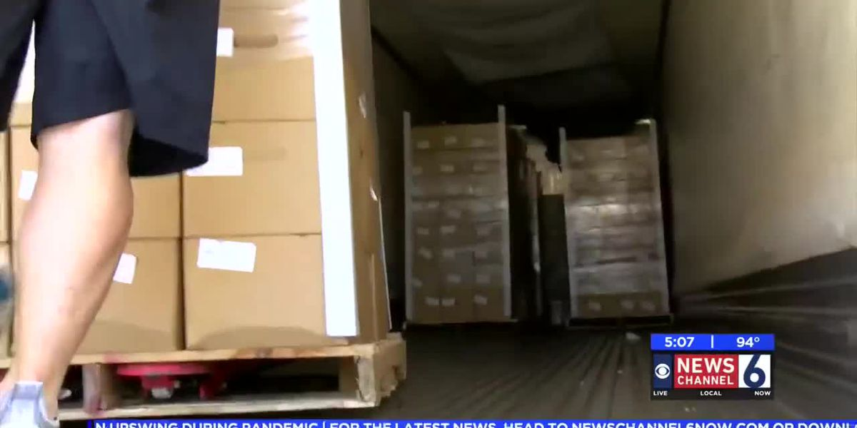 First Assembly receives 1,200 boxes of food to donate