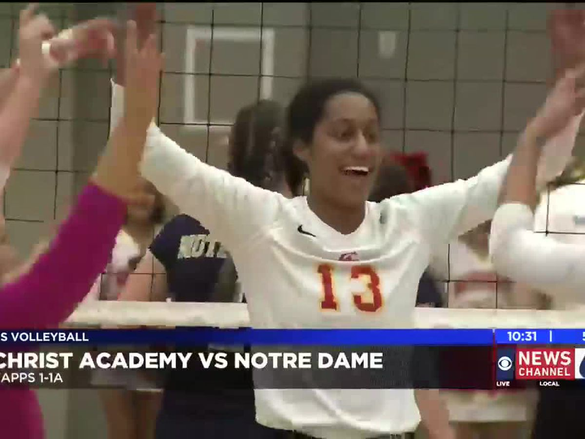 Christ Academy vs Notre Dame volleyball