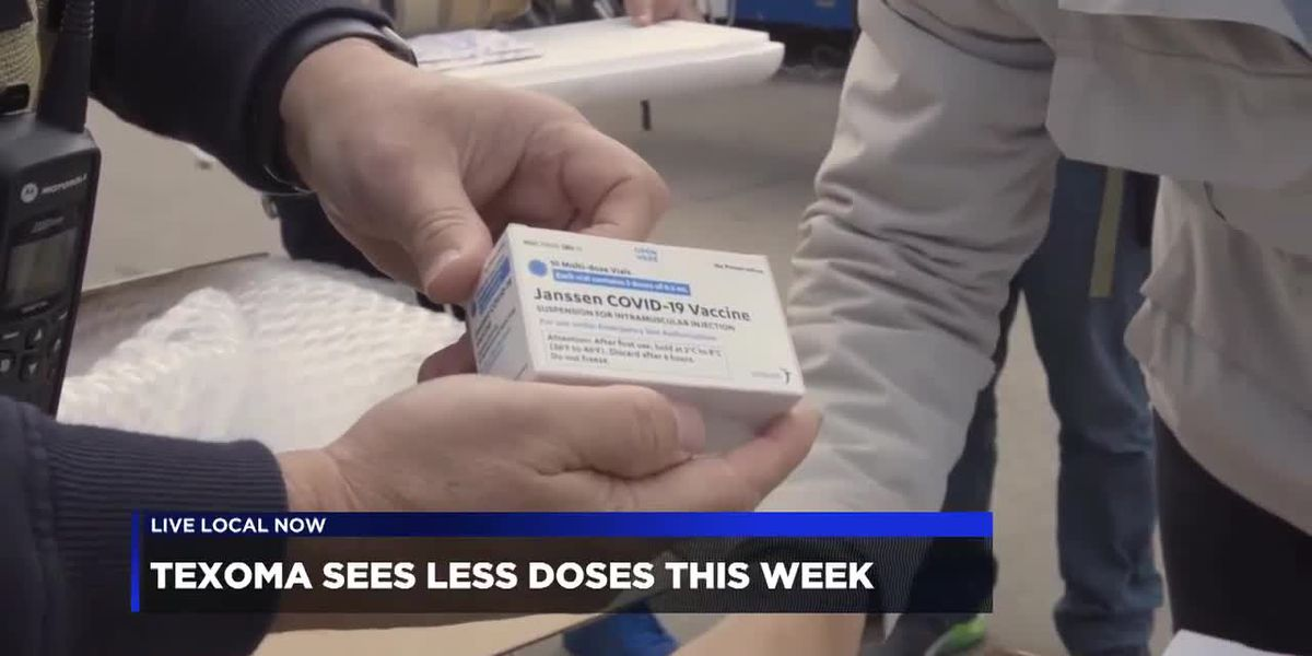 Texoma sees fewer vaccines this week