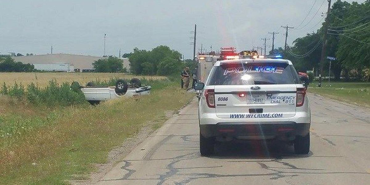 Rollover accident sends one to hospital
