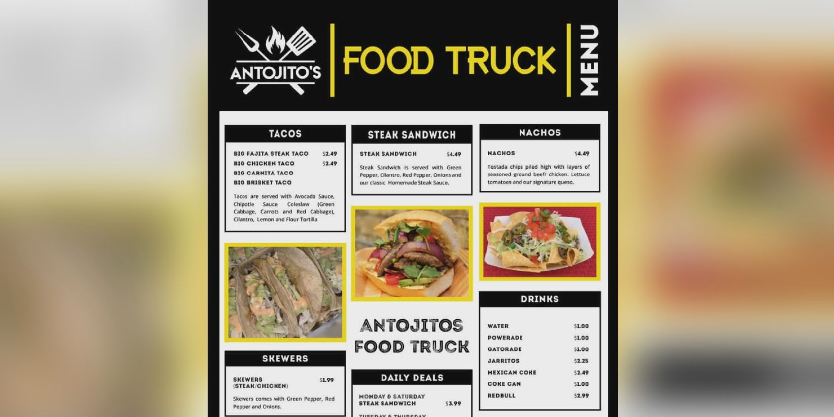 Antojito's food truck serving at the News Channel 6 parking lot