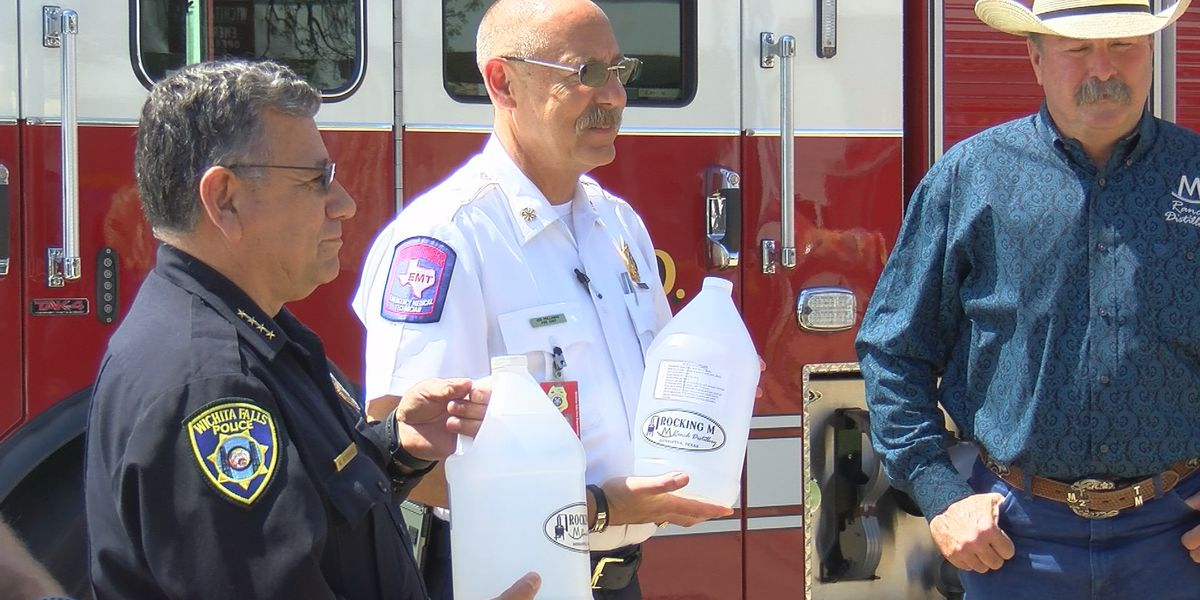 Distillery donates homemade sanitizer to first responders