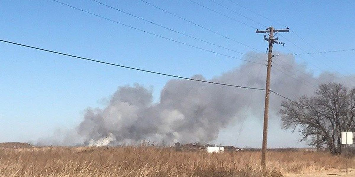 Large grass fire on TX-25 near Kamay now contained