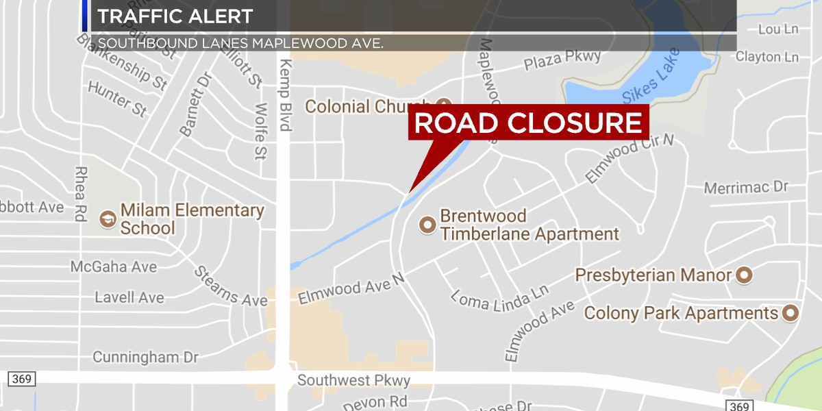 Construction to cause lane closures on Maplewood