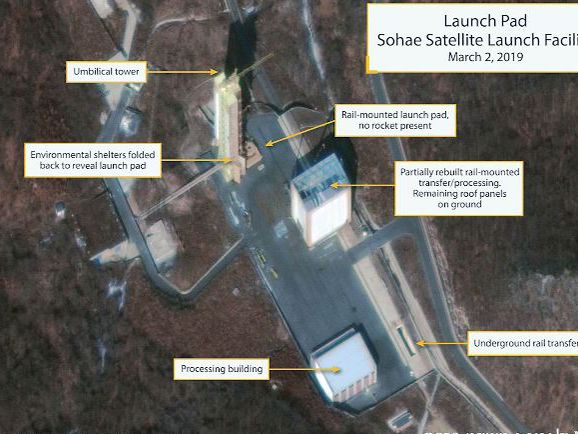 North Korea said to be rebuilding structures at rocket site