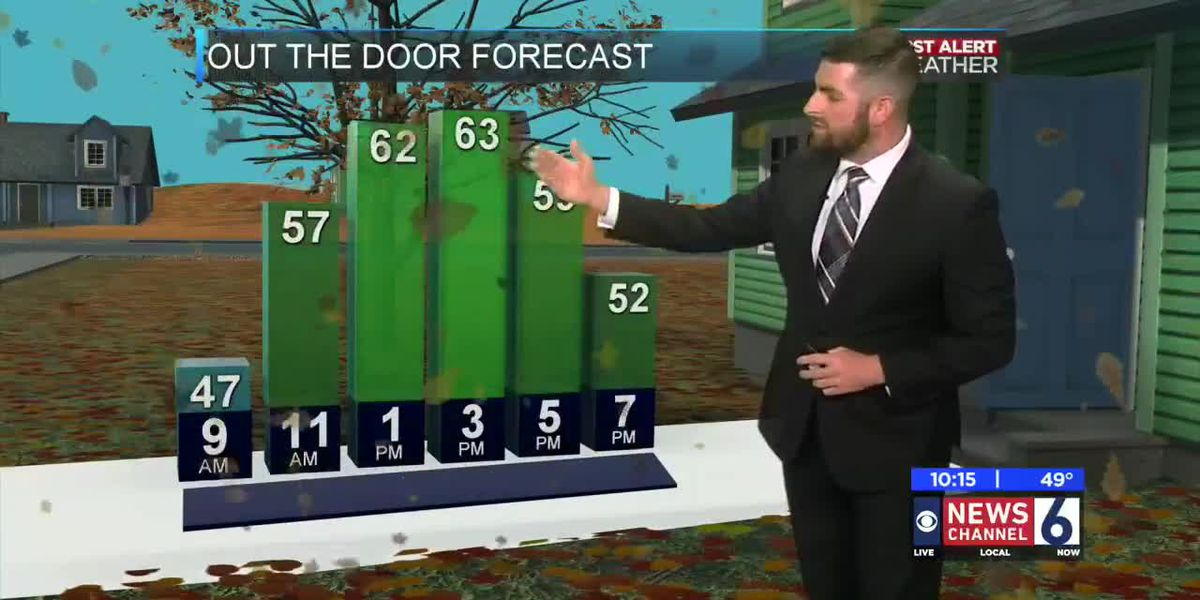 A cold front is coming in tomorrow morning