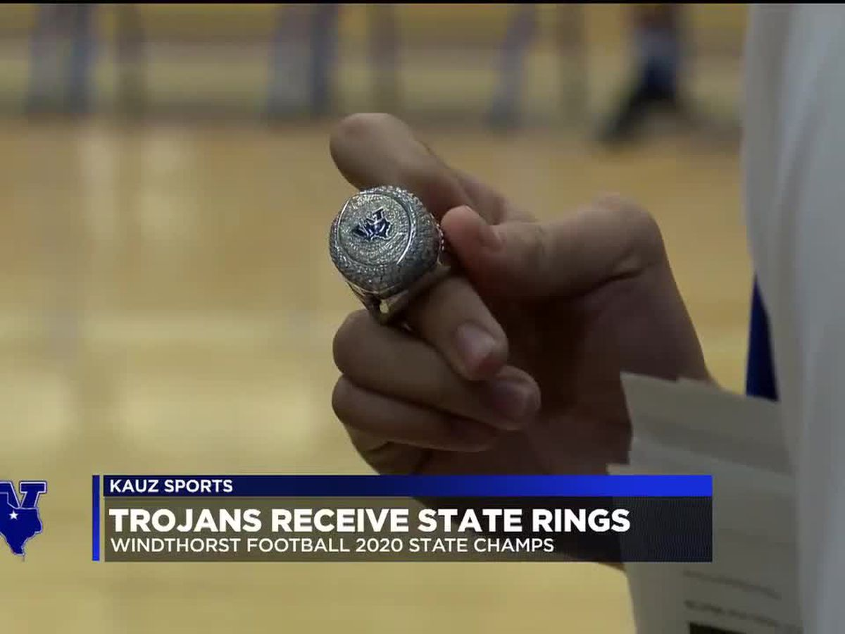 Trojans receive state championship rings