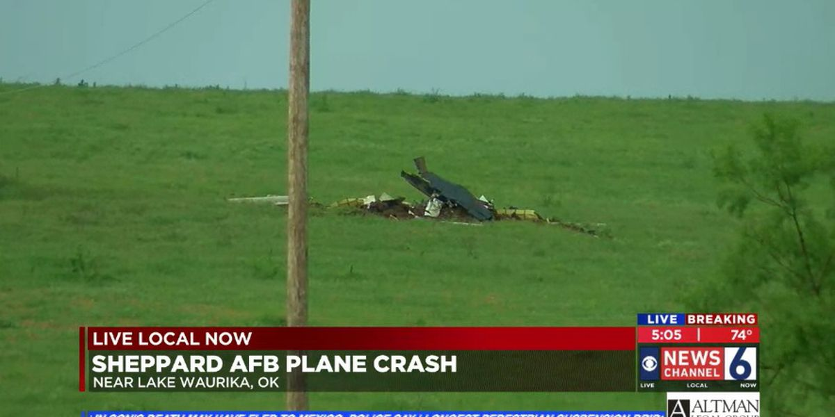 Witness sees plane from Sheppard AFB crash near Lake Waurika