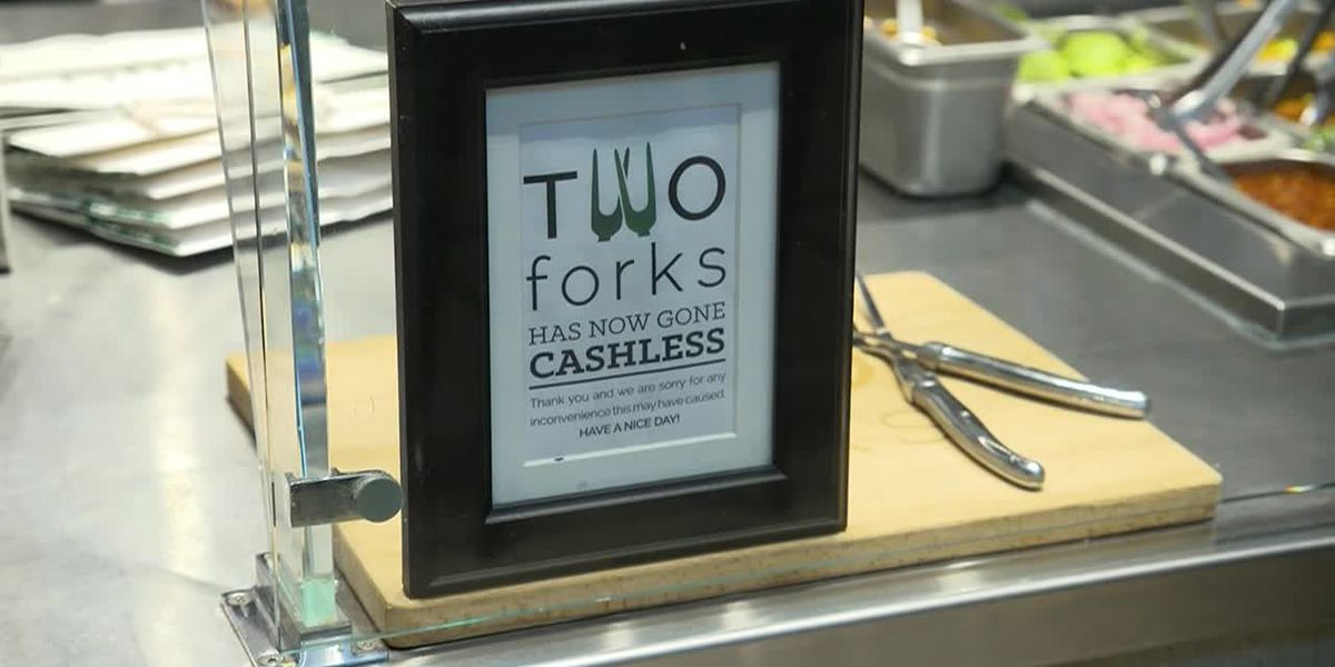 Some businesses won't take cash, citing efficiency