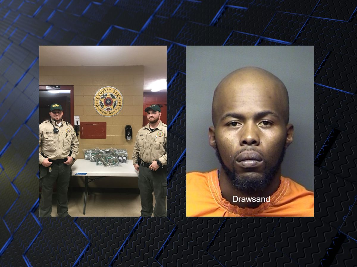 Man arrested in Clay County with nearly five pounds of marijuana