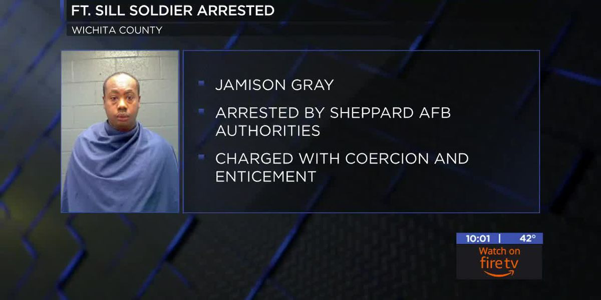 Fort Sill soldier in Wichita County Jail, charged with coercion and enticement