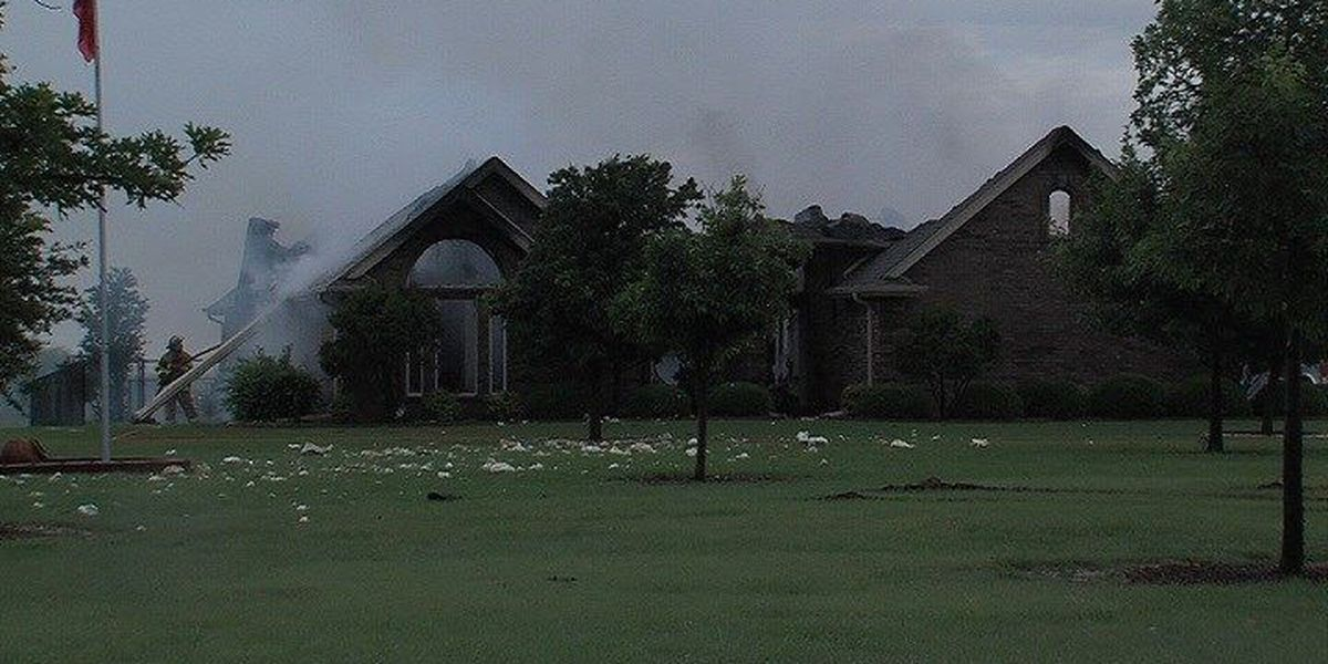 Lightning Sets Holliday House on Fire