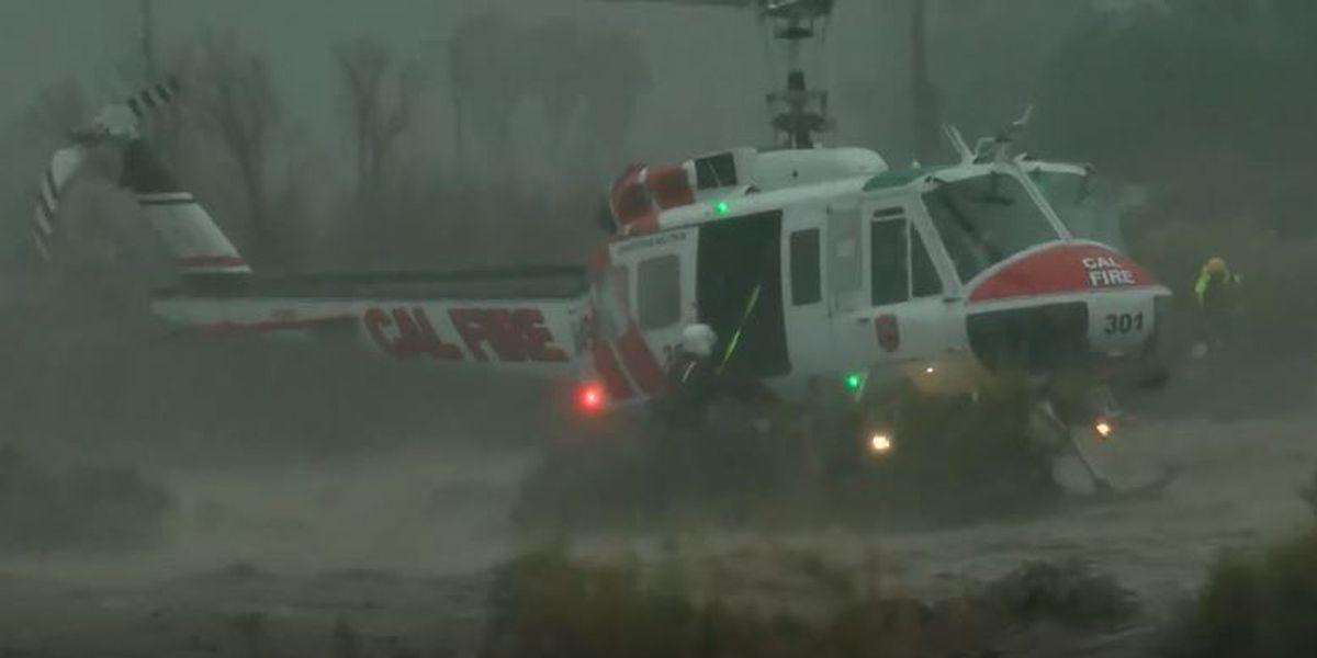 Wet and wild weather strikes West Coast, threatening floods and mudslides