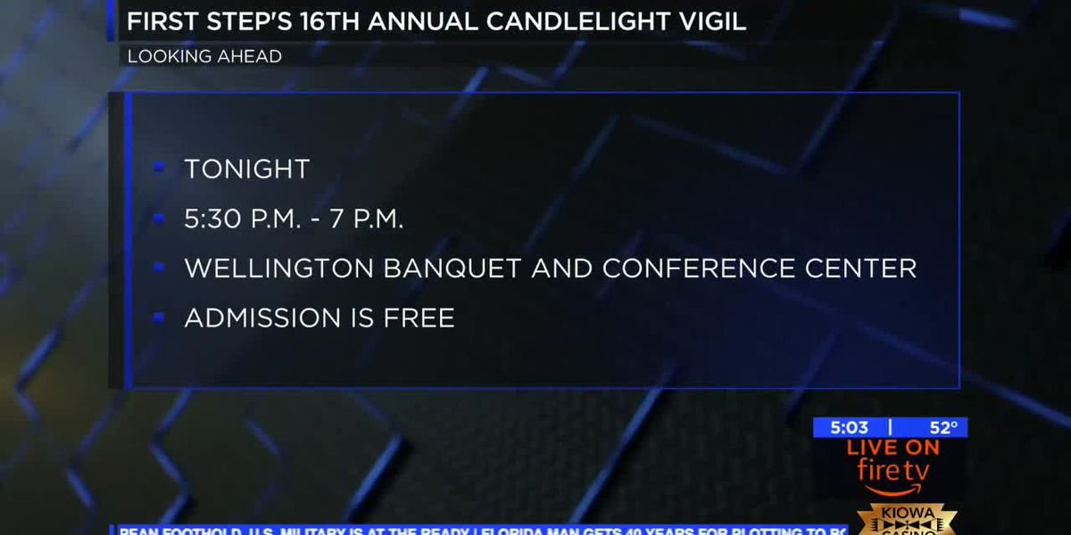 16th annual First Step Candlelight Vigil is taking place tonight