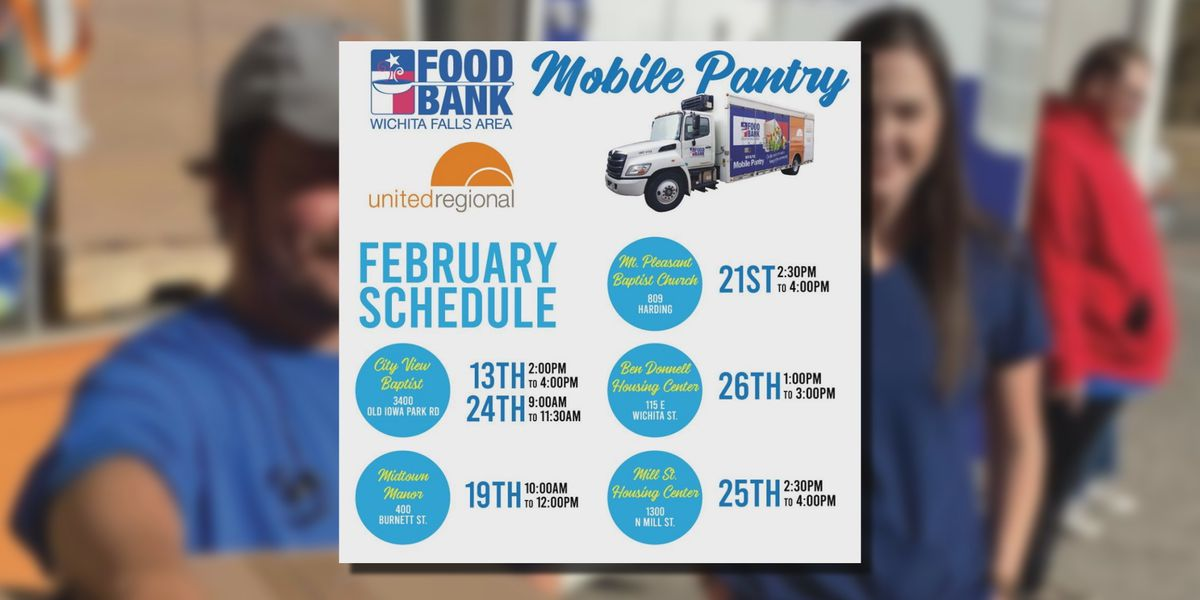 WF Area Food Bank's Mobile Pantry February schedule