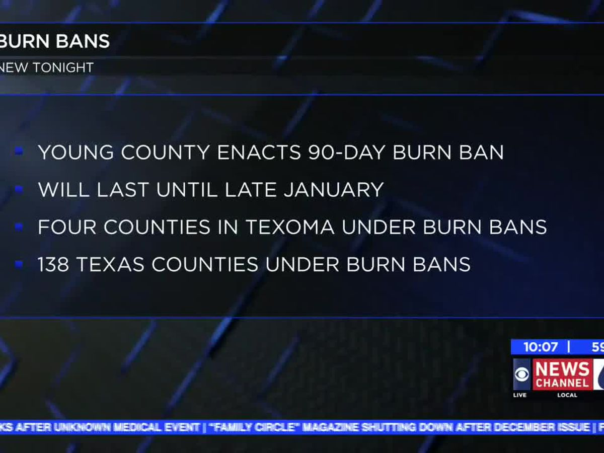 Burn ban in effect for Young County