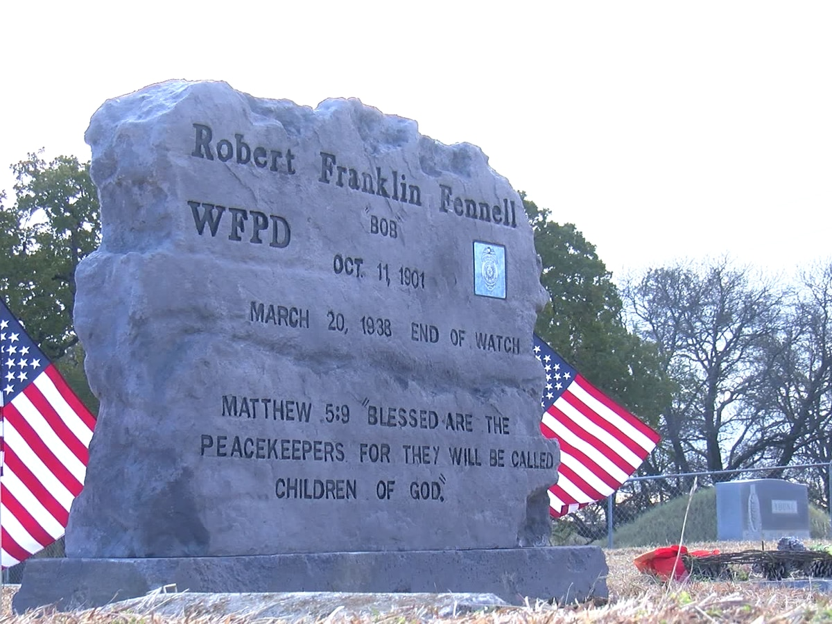 Fallen WFPD officer honored with headstone 80 years after his death