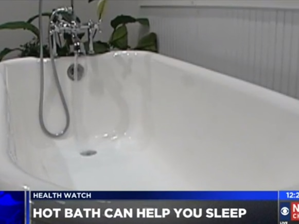 A hot bath before bed may improve sleep quality