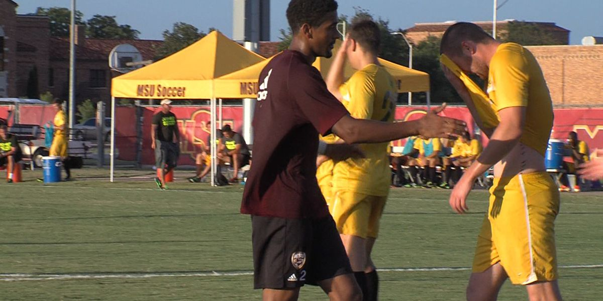 #22 MSU Soccer Rallies for 4-3 Exhibition Win