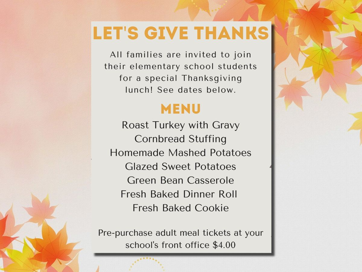 WFISD's annual Thanksgiving lunches