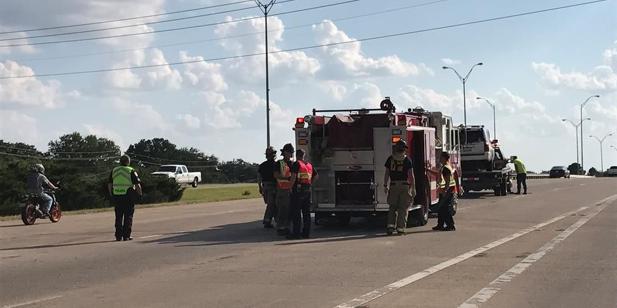 Kell West Freeway collision sends seven to the hospital