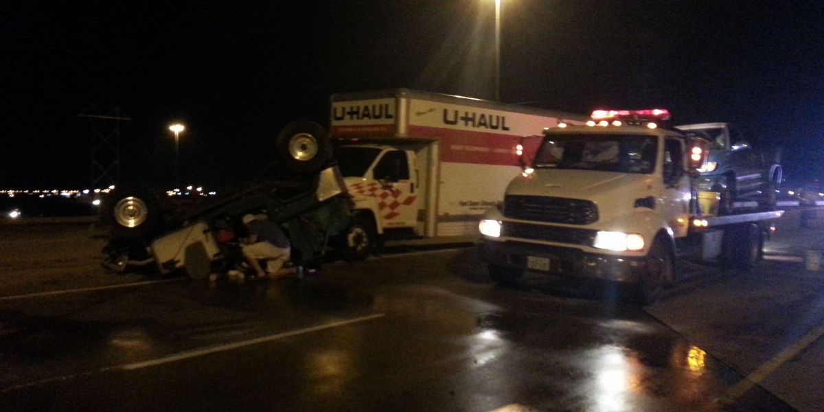 Accident Shuts Down Highway