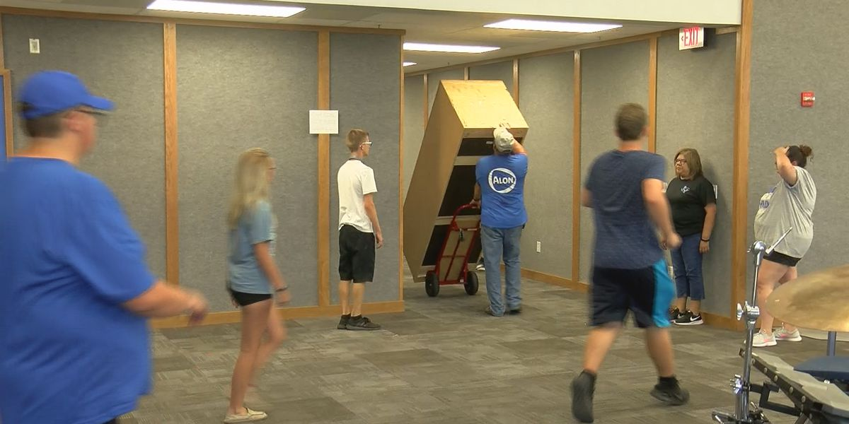 Move in day for band students at City View Junior/Senior High School