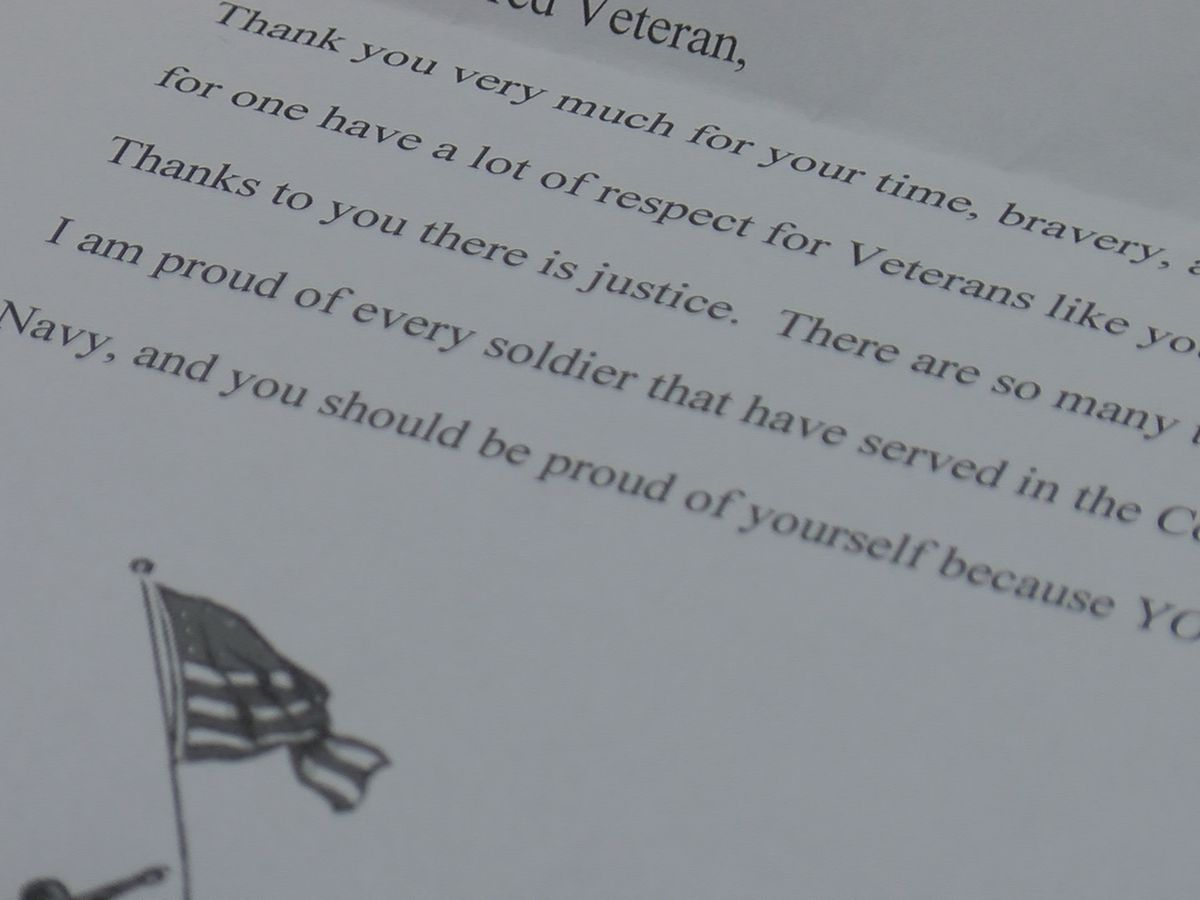 "Local Care Center gives a veterans ""Mail call"""