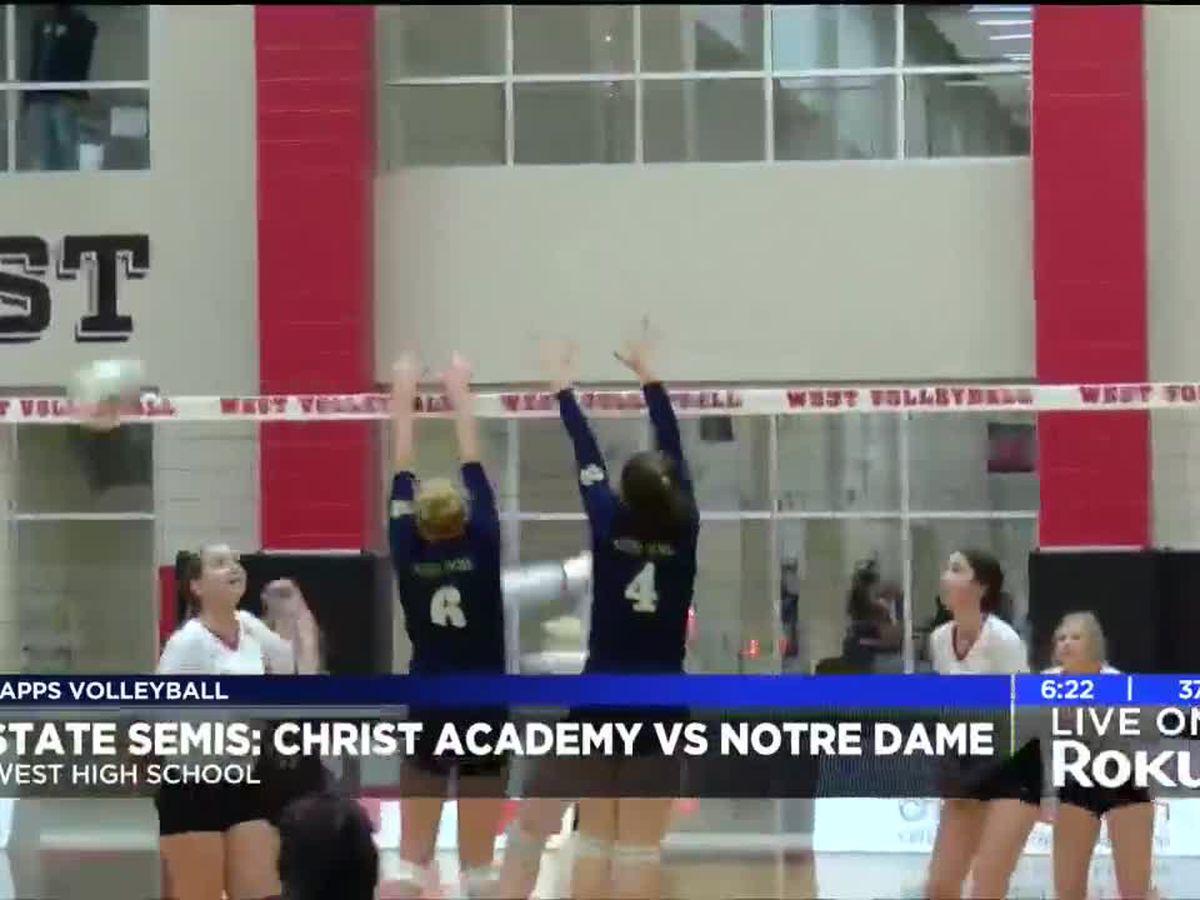 Notre Dame advances over Christ Academy on coach Lisa Macha's birthday
