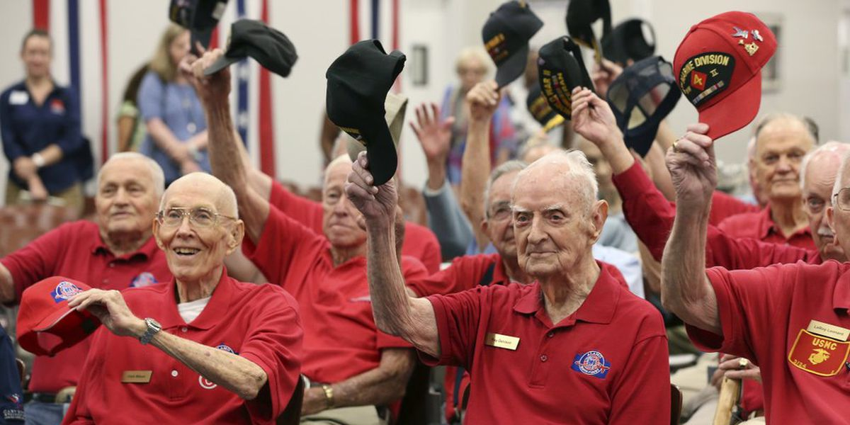 WWII vets honored in Texas following D-Day events in France