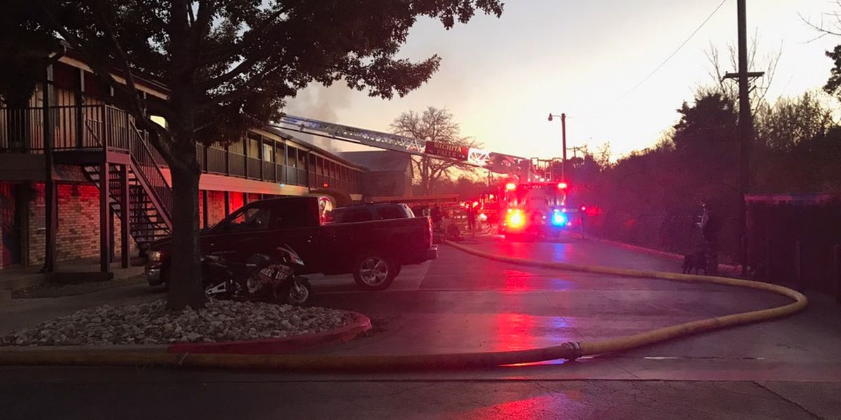 Crews work to put out apartment fire